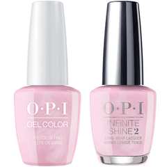 OPI GelColor The Color That Keeps On Giving #J07 + Infinite Shine #J46