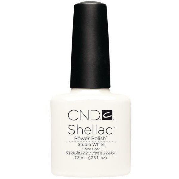 CND Creative Nail Design Shellac - Studio White   - Universal Nail Supplies