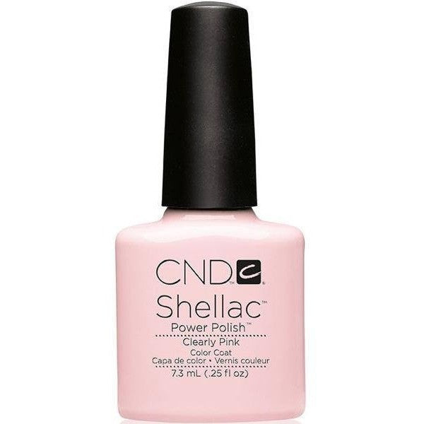 CND Creative Nail Design Shellac - Clearly Pink  - Universal Nail Supplies