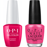 OPI GelColor + Matching Lacquer Strawberry Margarita #M23