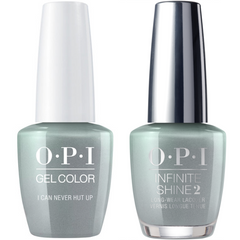 OPI GelColor I Can Never Hut Up #F86 + Infinite Shine #F86