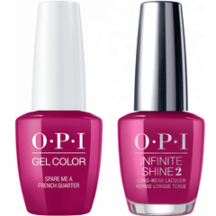 OPI GelColor Spare Me A French Quarter? #N55 + Infinite Shine #N55
