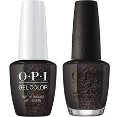 OPI GelColor + Matching Lacquer Top The Package With A Beau #J11