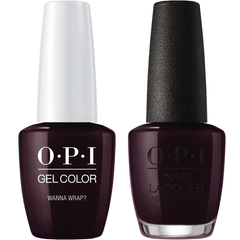 OPI GelColor + Matching Lacquer Wanna Wrap? #J06