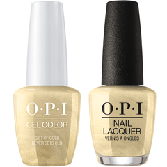 OPI GelColor + Matching Lacquer Gift Of Gold Never Gets Old #J12
