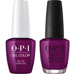 OPI GelColor + Matching Lacquer Feel The Chemis-Tree #J05