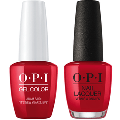 OPI GelColor + Matching Lacquer Adam Said