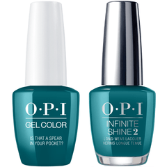 OPI GelColor Is That A Spear In Your Pocket? #F85 + Infinite Shine #F85