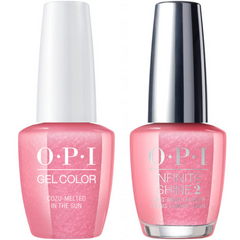 OPI GelColor Cozu-Melted In The Sun #M27 + Infinite Shine #M27