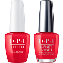 OPI GelColor Coca-Cola® Red #C13 + Infinite Shine #C13