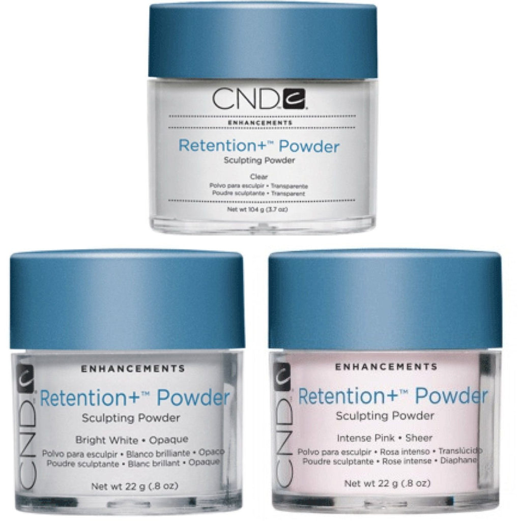 CND Retention + Sculpting Powder Set Of 3 - Universal Nail Supplies