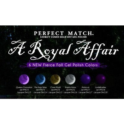 LeChat Perfect Match Gel - A Royal Affair Collection #73 - #78 - Universal Nail Supplies