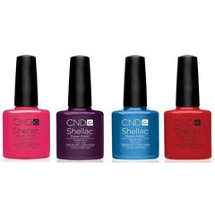 CND Creative Nail Design Shellac - Splash Collection Set Of 4