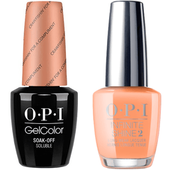 OPI GelColor Crawfishin' For A Compliment #N58 + Infinite Shine #N58