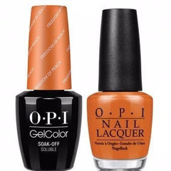 OPI GelColor + Matching Lacquer Freedom Of Peach #W59