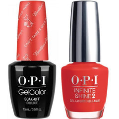 OPI GelColor Can't Tame A Wild Thing #H15 + Infinite Shine #H47