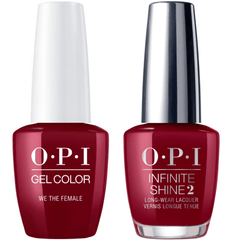 OPI GelColor We The Female #W64 + Infinite Shine #W64