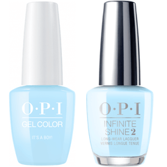 OPI GelColor It's A Boy! #T75 + Infinite Shine #T75