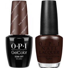 OPI GelColor + Matching Lacquer Sh...It's Top Secret #W61