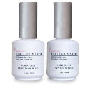 LeChat Perfect Match Ultra-Thin Varnish Base Gel + High Gloss Top Gel - Universal Nail Supplies
