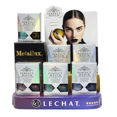 LeChat Perfect Match Gel + Matching Lacquer Metallux Collection Set of 6