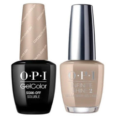 OPI GelColor Coconuts Over OPI #F89 + Infinite Shine #F89