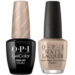 OPI GelColor + Matching Lacquer Coconuts Over OPI #F89