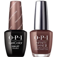 OPI GelColor That's What Friends Are Thor #I54 + Infinite Shine #I54