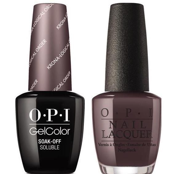 OPI GelColor + Matching Lacquer Krona-Logical Order #I55 - Universal Nail Supplies
