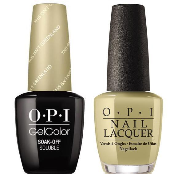 OPI GelColor + Matching Lacquer This Isn't Greenland #I58 - Universal Nail Supplies