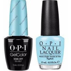 OPI GelColor + Matching Lacquer Sailing & Nail-ing #R70