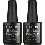CND Creative Nail Design Shellac - Large Size Xpress 5 Top Coat 0.5 oz 2 ct - Universal Nail Supplies