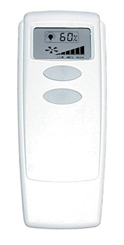 Litex Rci-104 Universal Remote Control With Display Screen, Three Speeds And Full Range Dimmer