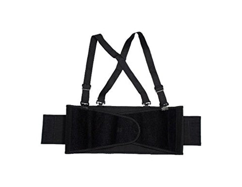 Cordova Safety Products Sb-3Xl Back Support Belt With Glide Adjustable Clips, 3X-Large, Black