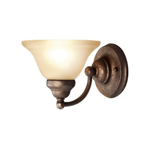 Woodbridge Lighting 50025-Mbz Anson 1-Light Bath/Vanity Light, Marbled Bronze