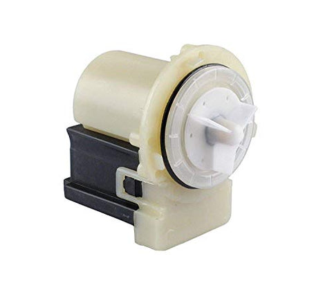Duet Washer Water Pump Motor Mod: M75 461970201671 Compatible For Whirlpool,Kenmore,Maytag Only Motor, 4 Blades Included, Same Block Terminal, Rrubber Ring Included