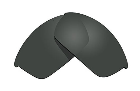 Sunglass Lenses Replacement Polarized For Oakley Flak Jacket Sunglasses - 4 Options Available (Stealth Black) By Bvanq
