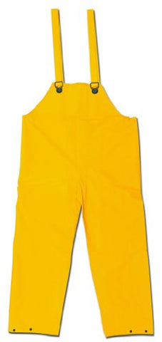 Mcr Safety 200Bfm Classic Pvc/Polyester Bib Pants With Plain Front, Yellow, Medium