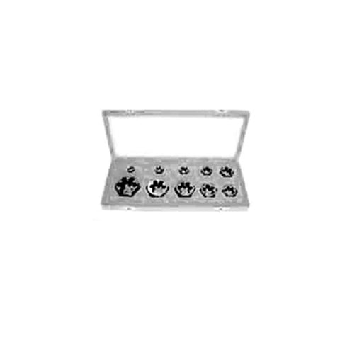 Gyros 93-16211  Left Handed Carbon Steel Hex Rethreading Die Set, 1/4-Inch To 1-Inch Nc, 10-Piece