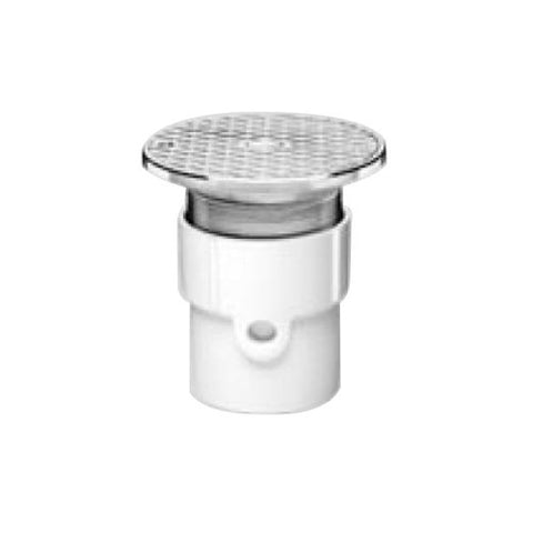 Oatey 84129 Abs Hub Base General Purpose Cleanout With 6-Inch Br Cover, 4-Inch
