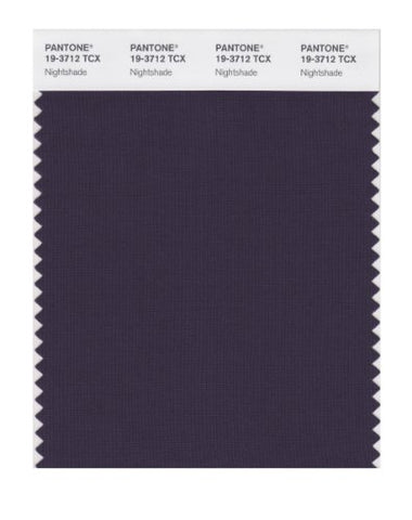 Pantone Smart 19-3712X Color Swatch Card, Nightshade