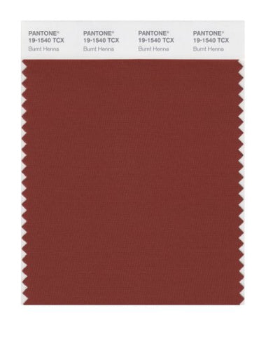 Pantone Smart 19-1540X Color Swatch Card, Burnt Henna