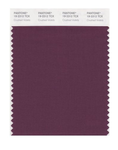 Pantone Smart 19-2312X Color Swatch Card, Crushed Violets