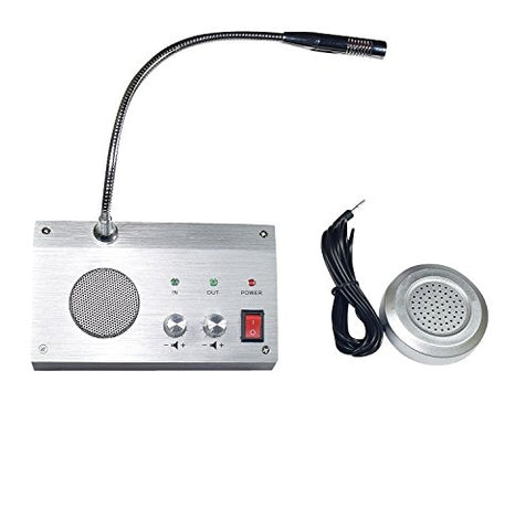 Bank Counter Window Intercom System Dual-Way Intercommunication Microphone 3W