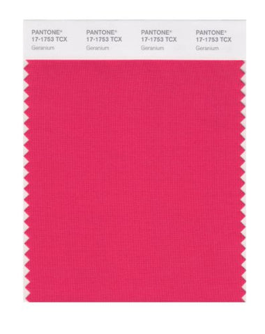 Pantone Smart 17-1753X Color Swatch Card, Geranium