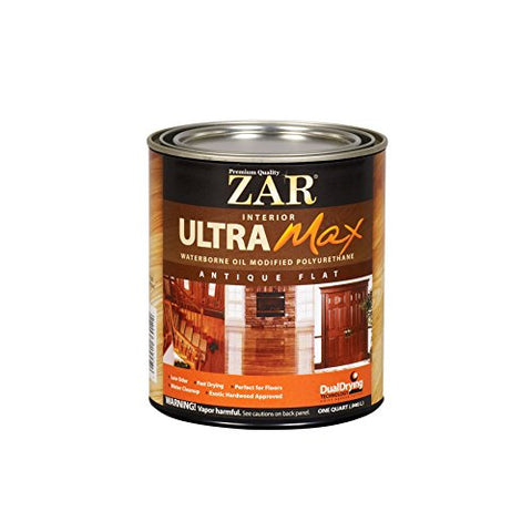 Zar 36412 Antique Flat Ultra Max Oil Modified Polyurethane