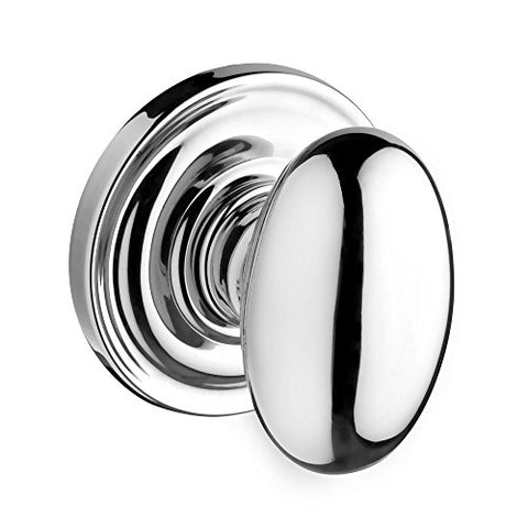 Baldwin Fdelltrr260 Reserve Full Dummy Lockset X Ellipse With Traditional Round Rose, Bright Chrome Finish