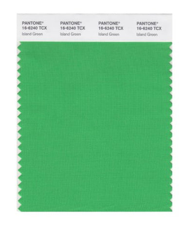 Pantone Smart 16-6240X Color Swatch Card, Island Green