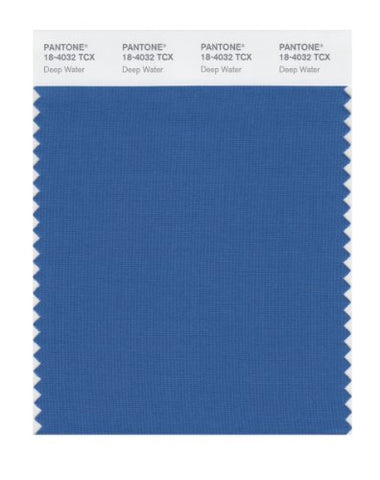 Pantone Smart 18-4032X Color Swatch Card, Deep Water