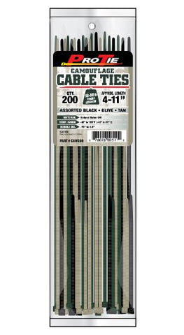 Pro Tie Cam200 Camouflage Assortment Cable Ties